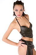 Dorothy Bank Hot leather istripper model