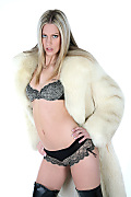 Bernadette Russian winter istripper model