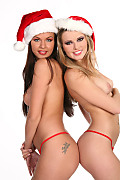 Nikky Case & Mina Christmas jewels istripper model