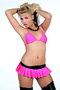 Axelle Parker Pink circus istripper model