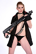 Kathy Moore Bodyguard istripper model
