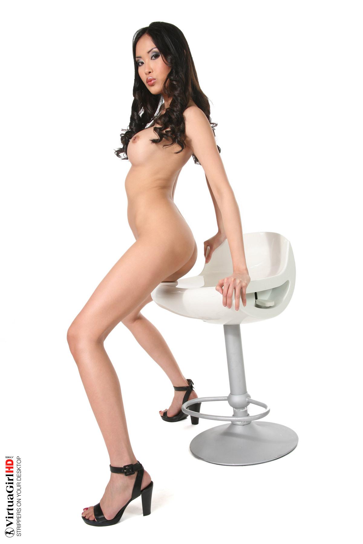 Chair Nude asian girl