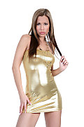 Satin Bloom Pure gold istripper model