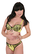 Ally Style Yellow butterfly istripper model