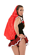 Conny Little Red Riding Hood istripper model