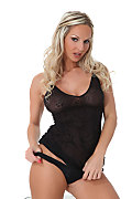 Valentina Nightie and Stilettos istripper model