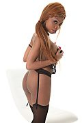 Kelly Black Garter Belt Goddess istripper model