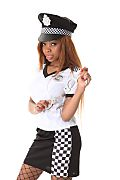 Kelly Black Traffic Stopper istripper model