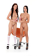 Lara Sweet & Mia Manarote Duo istripper model