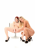 Miela & Kattie Gold Duo istripper model