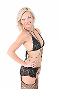 Zazie Skymm Black Lace istripper model